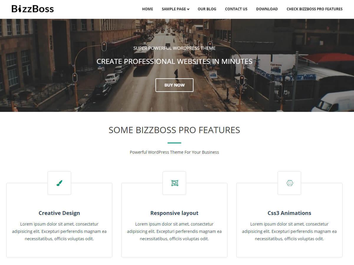 Bizzboss theme free download