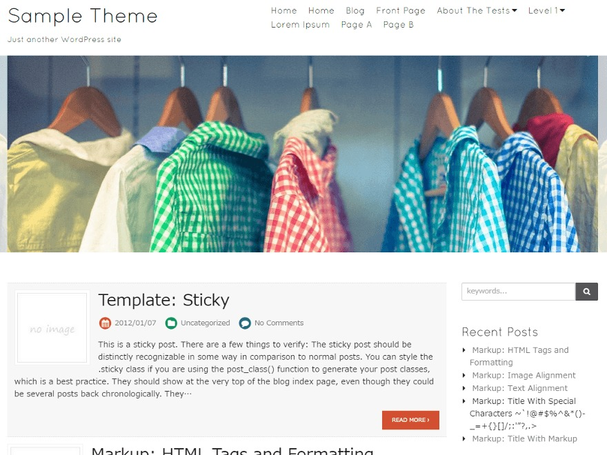 Blanc WordPress store theme