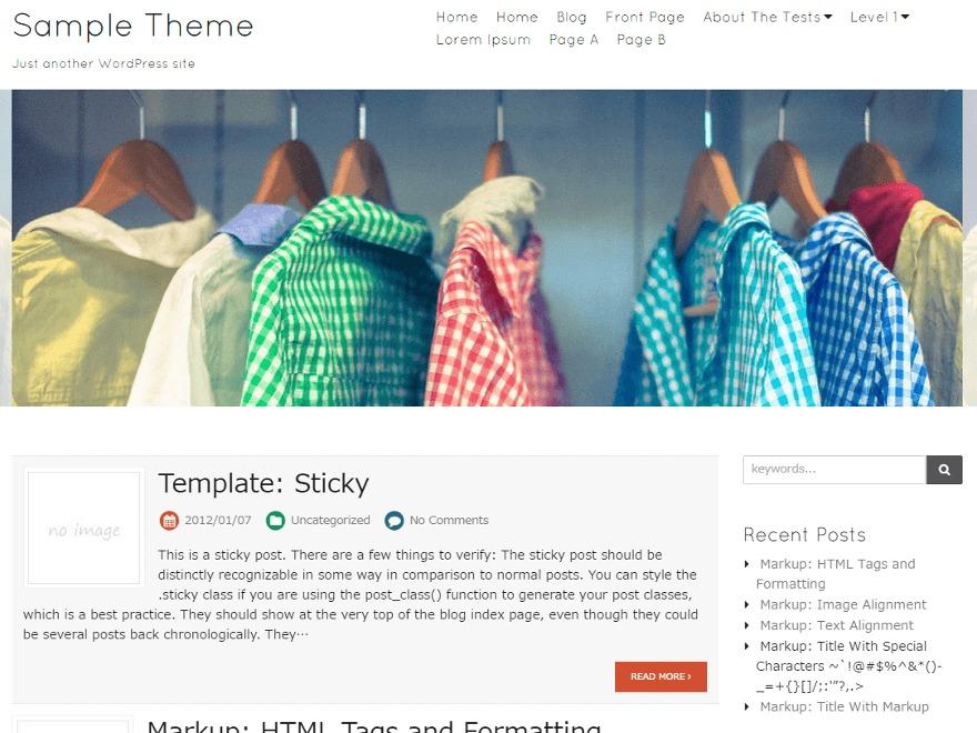 Blanc WordPress store theme