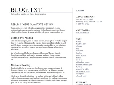 blog.txt WordPress blog template