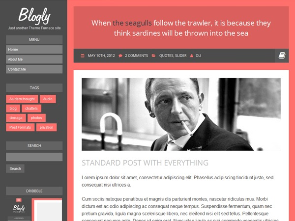 Blogly Lite template WordPress free