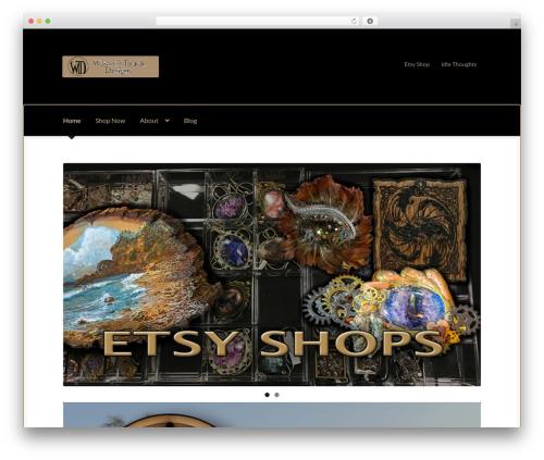 Boutique WordPress ecommerce template - wizardstouchdesigns.com