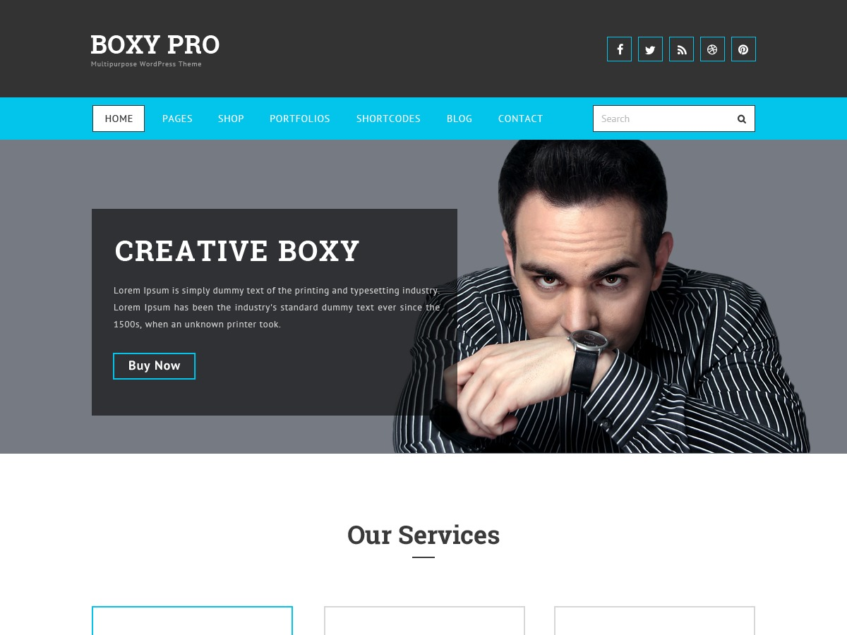 Boxy WordPress template free