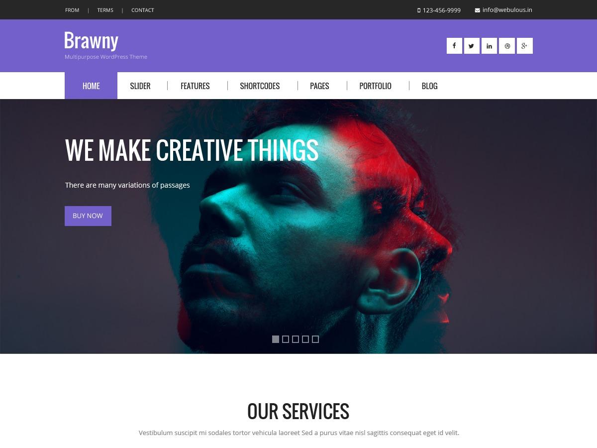 Brawny business WordPress theme