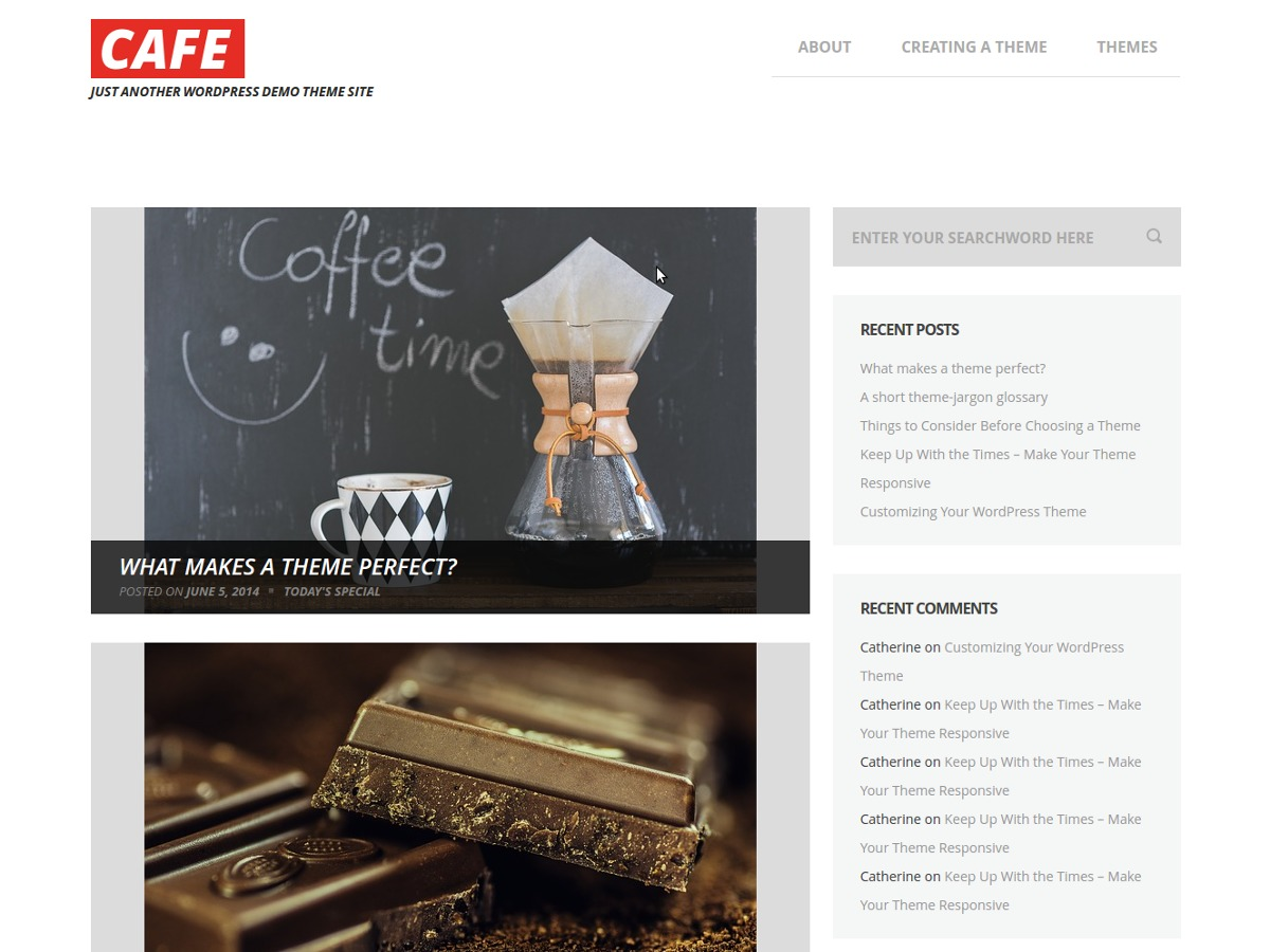 cafe free WordPress theme
