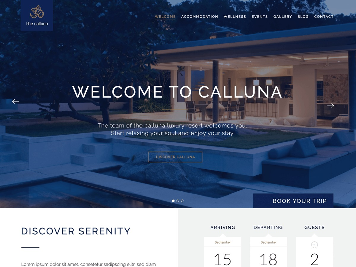 Calluna WordPress theme