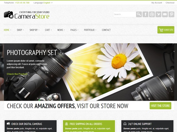 Camy WordPress ecommerce theme