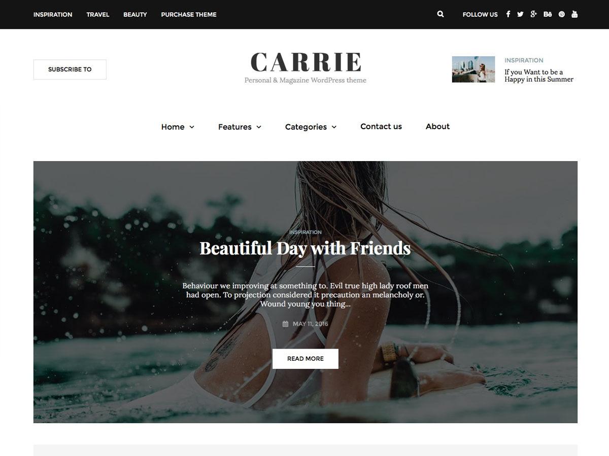 Carrie WordPress blog theme