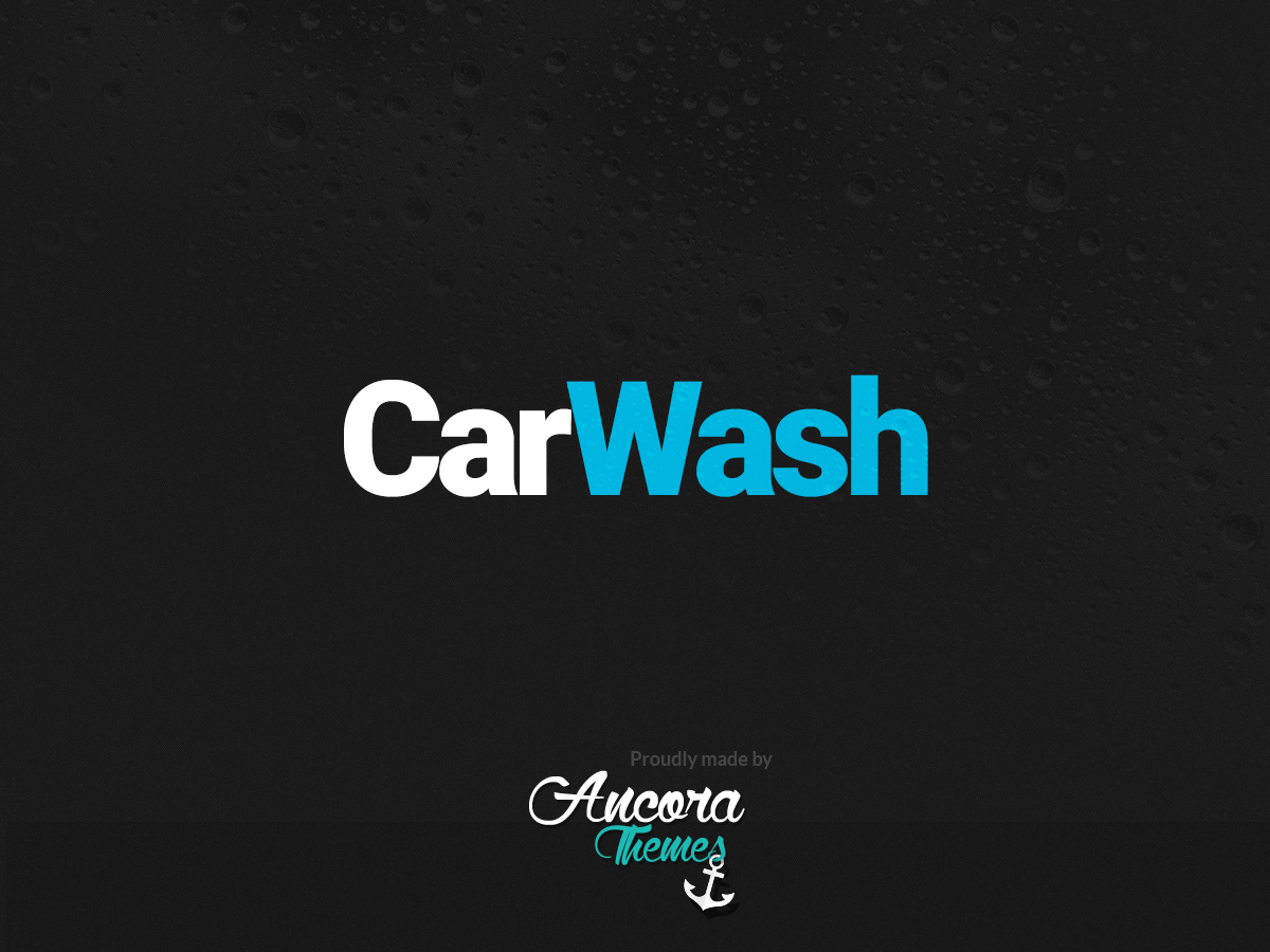 CarWash WordPress theme