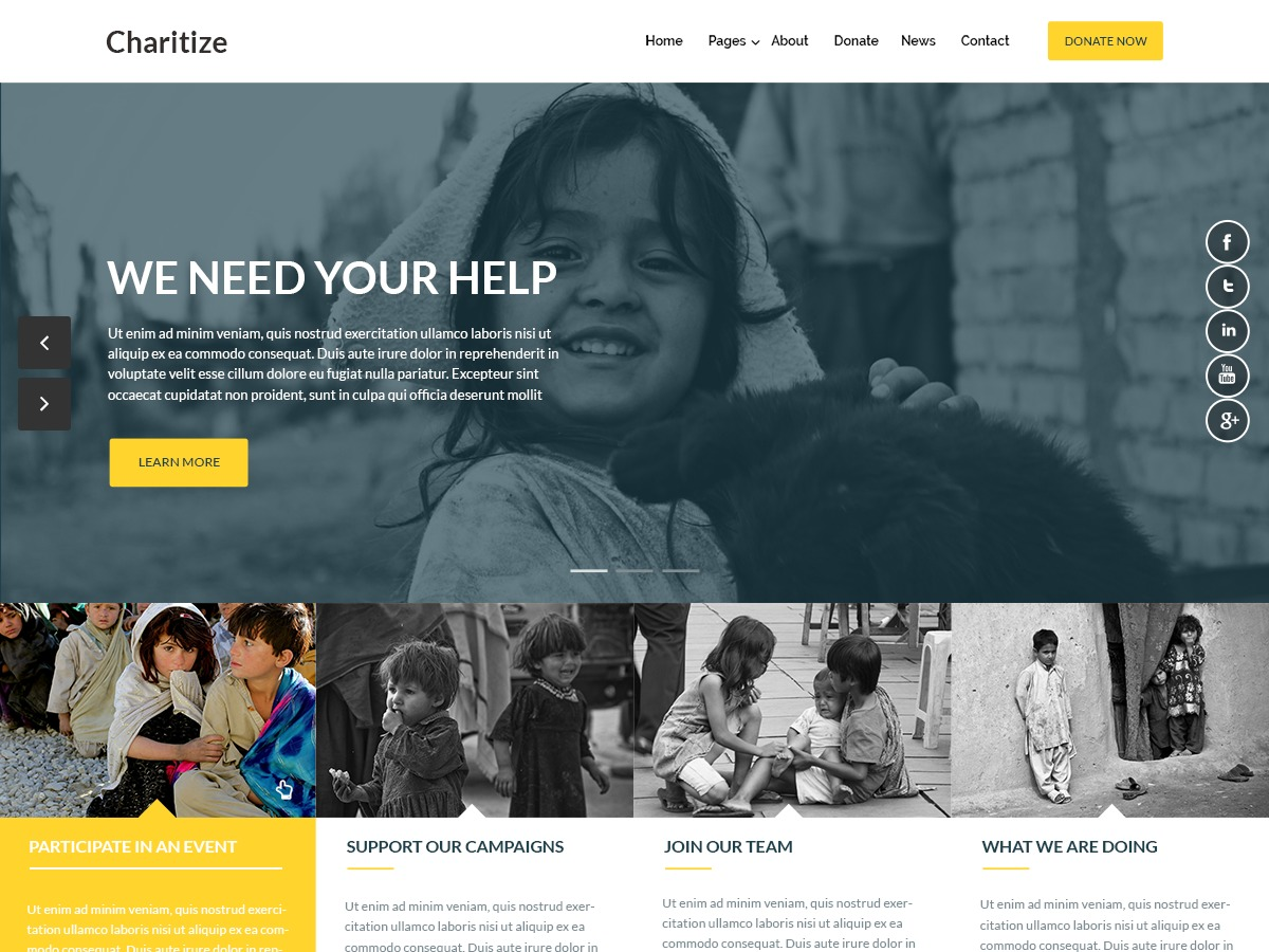Charitize theme WordPress free