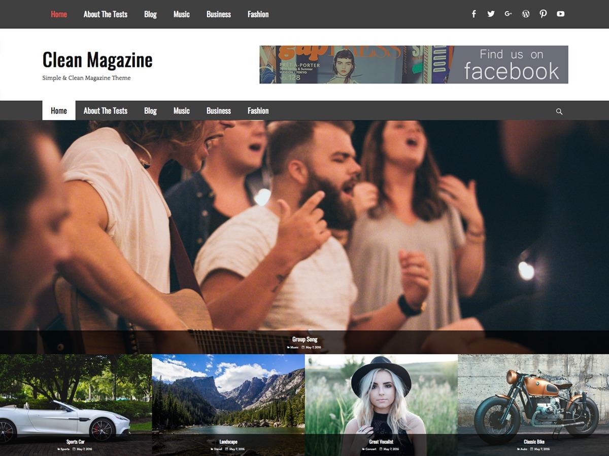 Clean Magazine best free WordPress theme