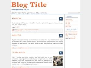 Cleanfrog WordPress website template