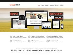 CleanSpace Business WP Theme best portfolio WordPress theme