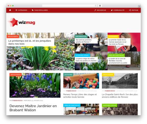 Codilight WordPress magazine theme - wizmag.be