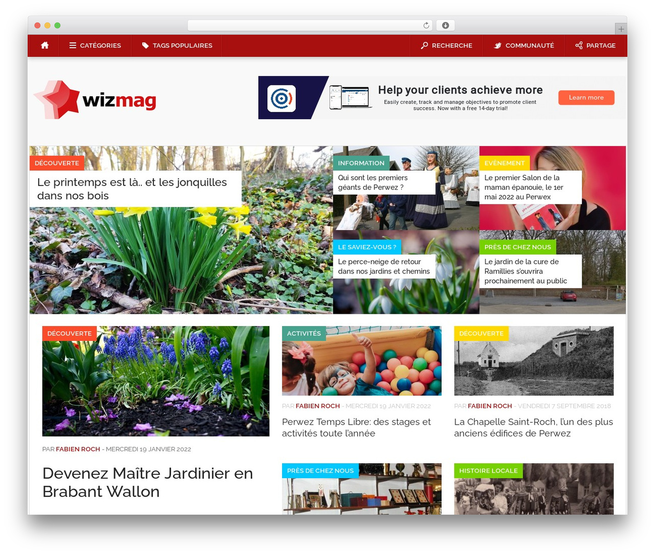 Codilight WordPress magazine theme - wizmag.be