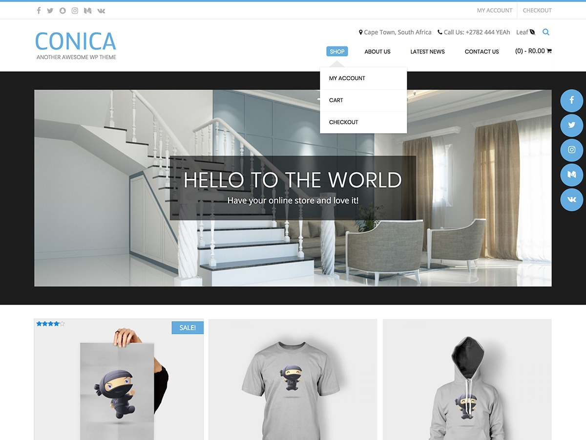 Conica WordPress shopping theme