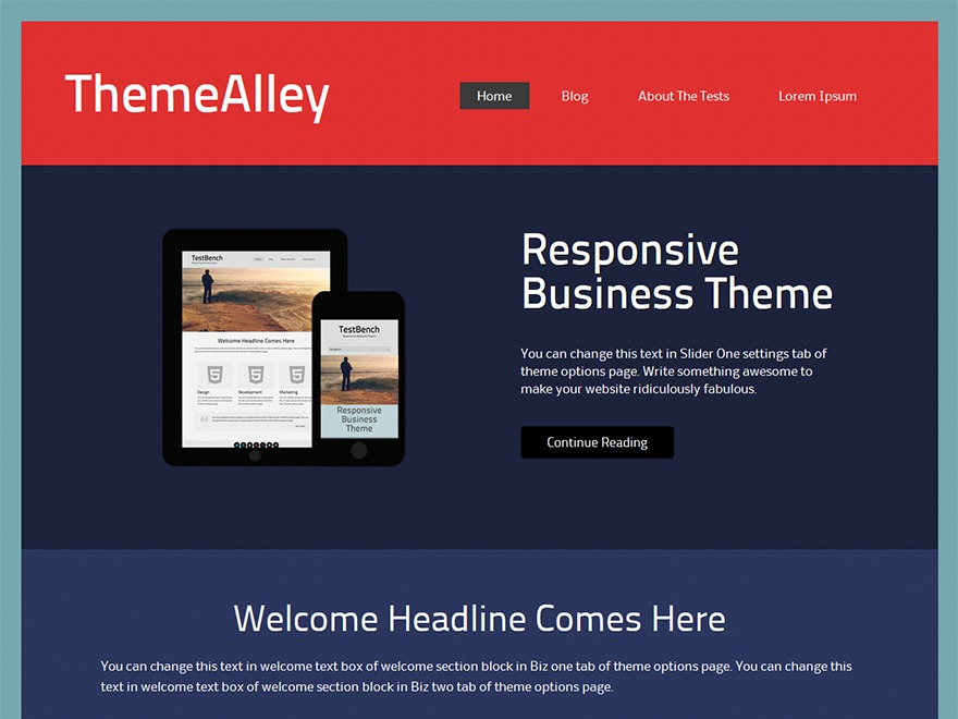 Connex WordPress template for business