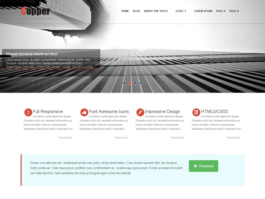 Copper personal blog WordPress theme