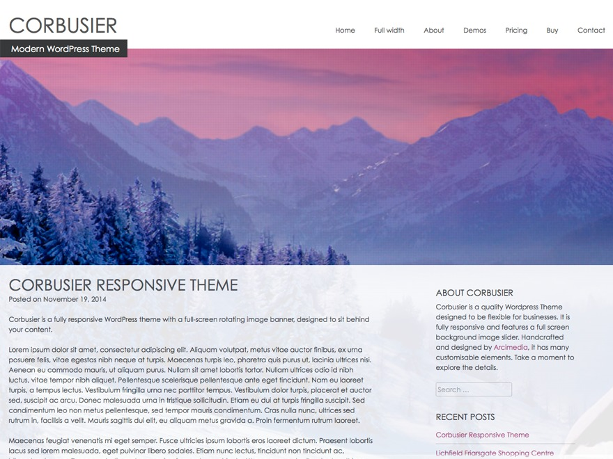 Corbusier WordPress template for business