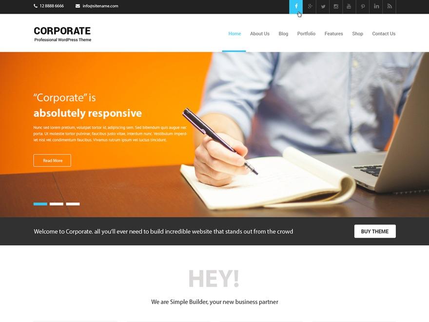 Corporate Lite best free WordPress theme