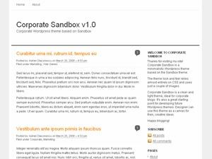 Corporate Sandbox WordPress blog theme