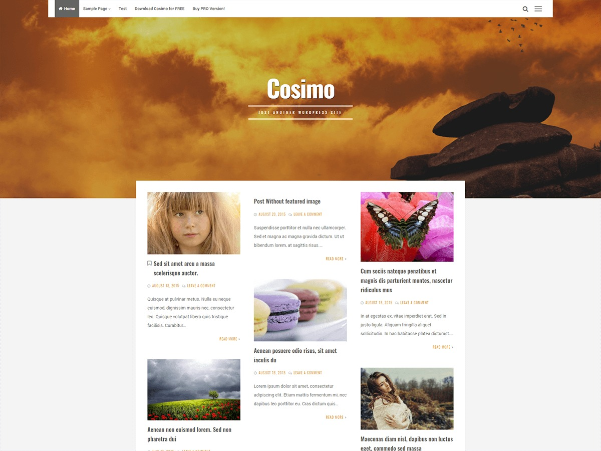 Cosimo WordPress template free