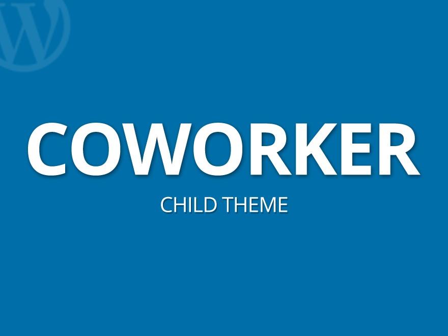 CoWorker Child Theme WordPress theme design