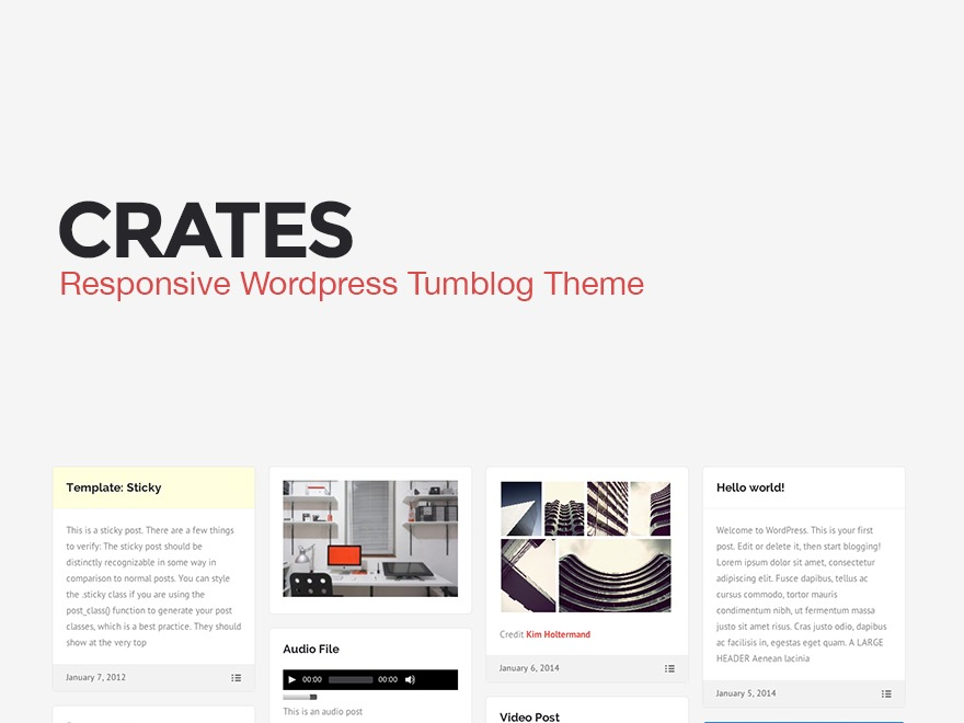 Crates WordPress photo theme