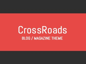 CrossRoad - Responsive WordPress Blog Theme WordPress blog template