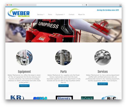 Customizr free WordPress theme - webermechanical.com