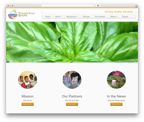 Customizr free WordPress theme - whisperingroots.org