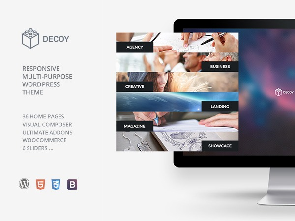 decoy WordPress theme design