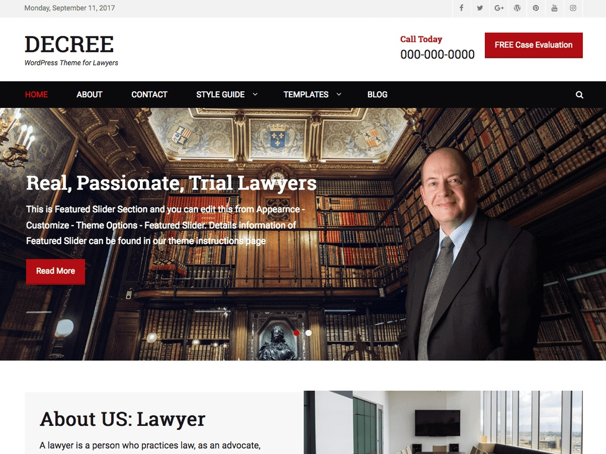 Decree template WordPress free