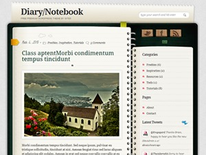 Diary/Notebook WordPress theme