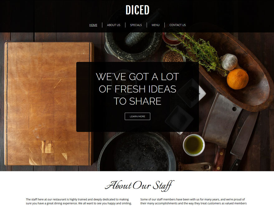 Diced theme WordPress