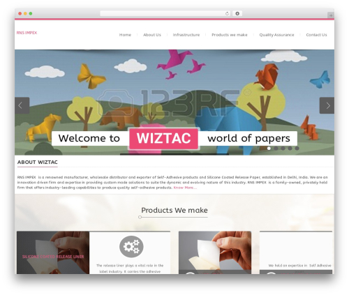 Dictate WordPress website template - wiztac.com
