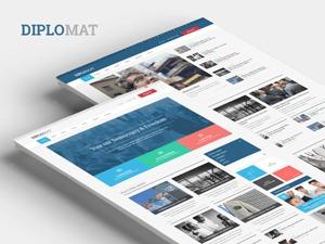 Diplomat business WordPress theme