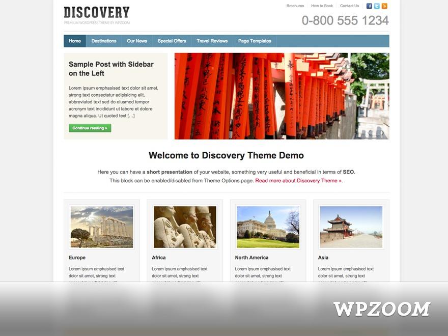 Discovery theme WordPress