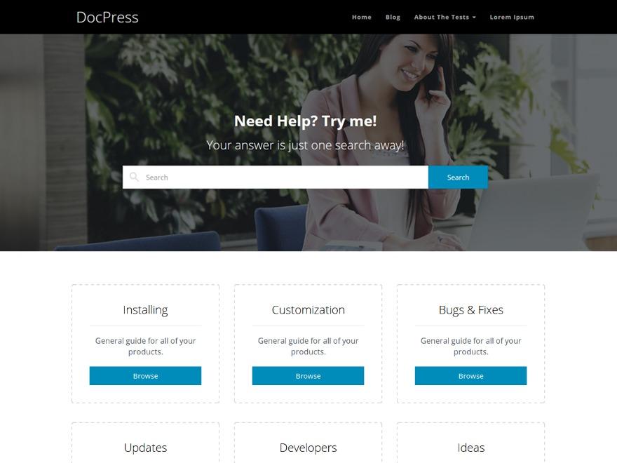 DocPress free WordPress theme
