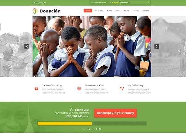Donation Wordpress Theme WordPress website template