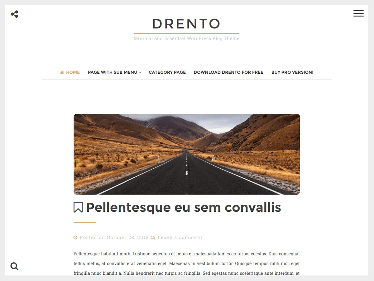 Drento WordPress template free