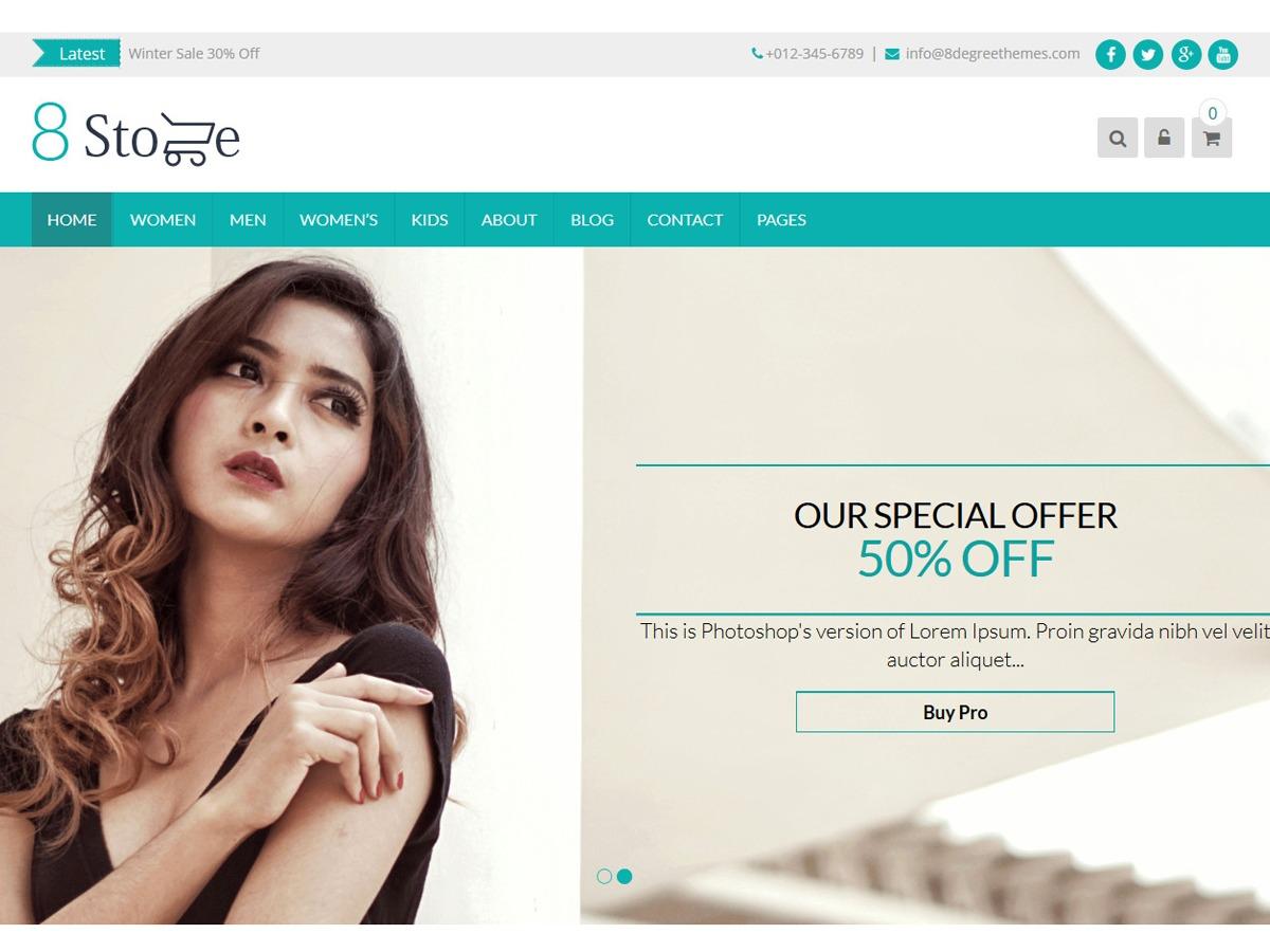 EightStore Lite template WordPress free
