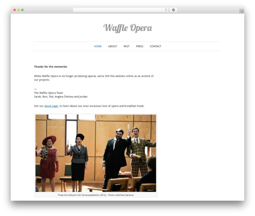 Elegant Photography Theme best WordPress gallery - waffleopera.com