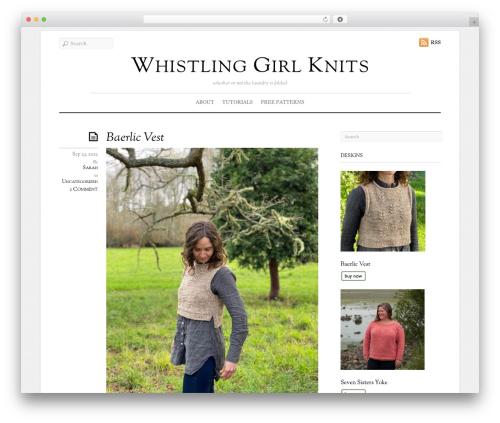 Elemin WordPress theme design - whistlinggirlknits.com