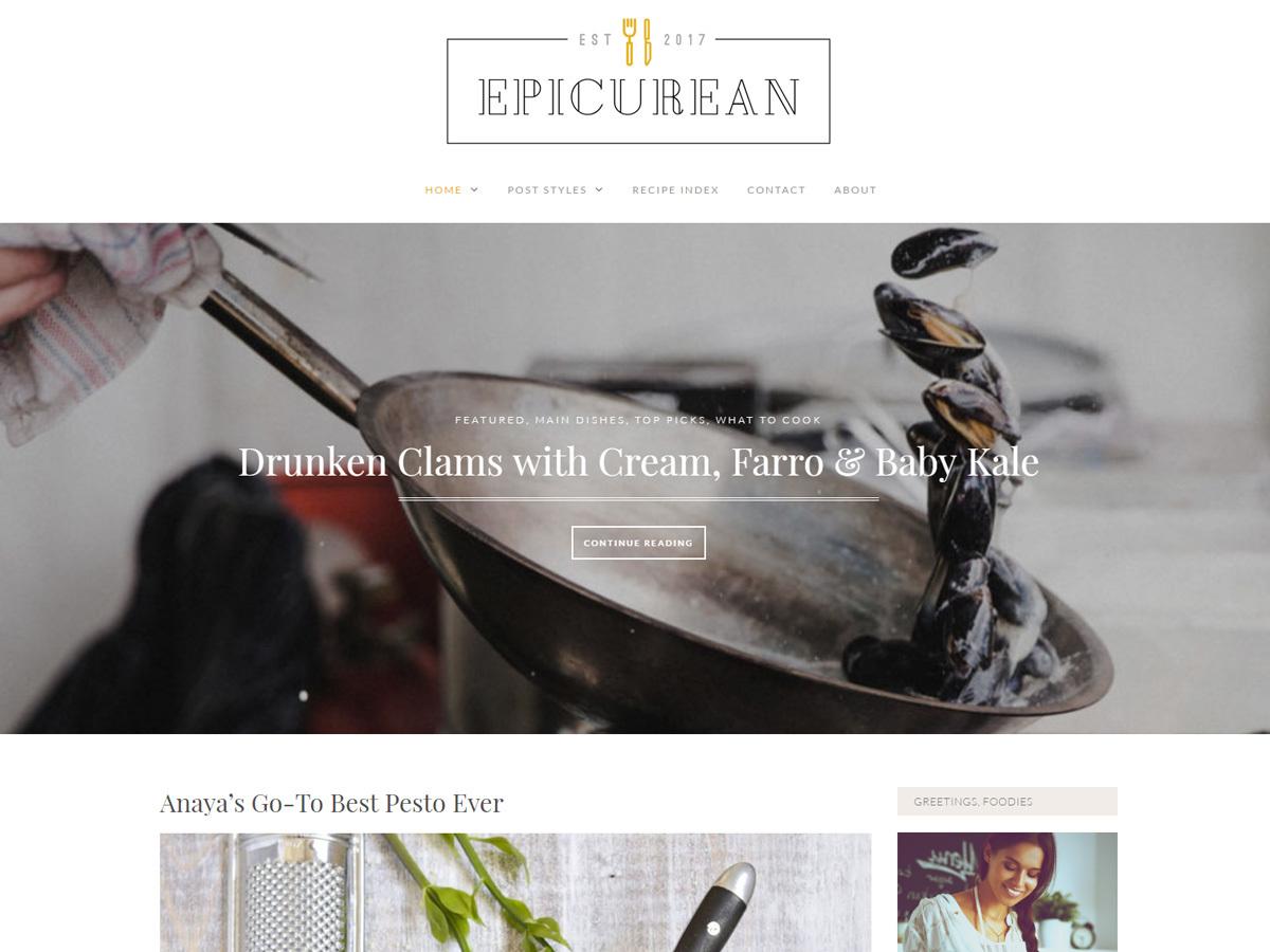 Epicurean Pro premium WordPress theme