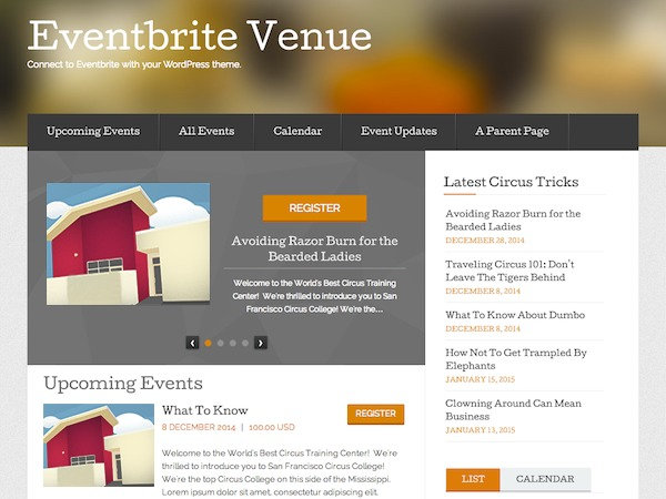 Eventbrite Venue WP theme