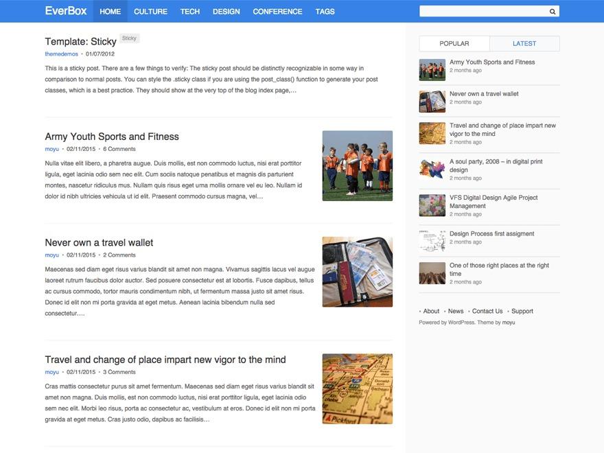 EverBox WordPress blog theme