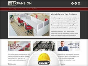 Expansion - Red premium WordPress theme