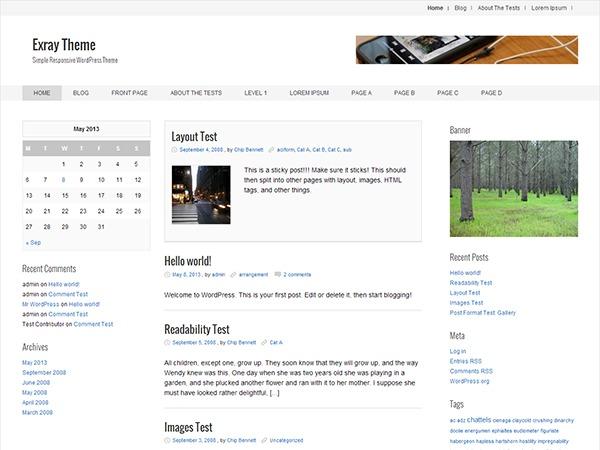 Exray WordPress theme free download