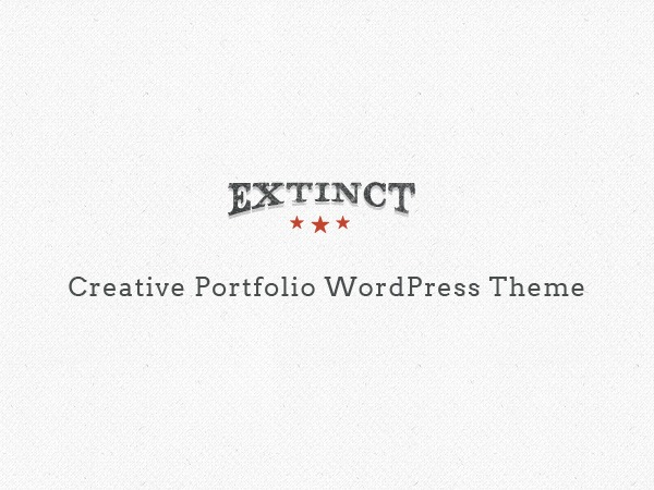 Extinct best portfolio WordPress theme